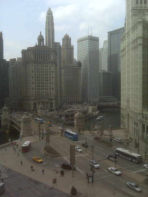 A beautiful Chicago morning... one of my favorite views - from Tribune Tower