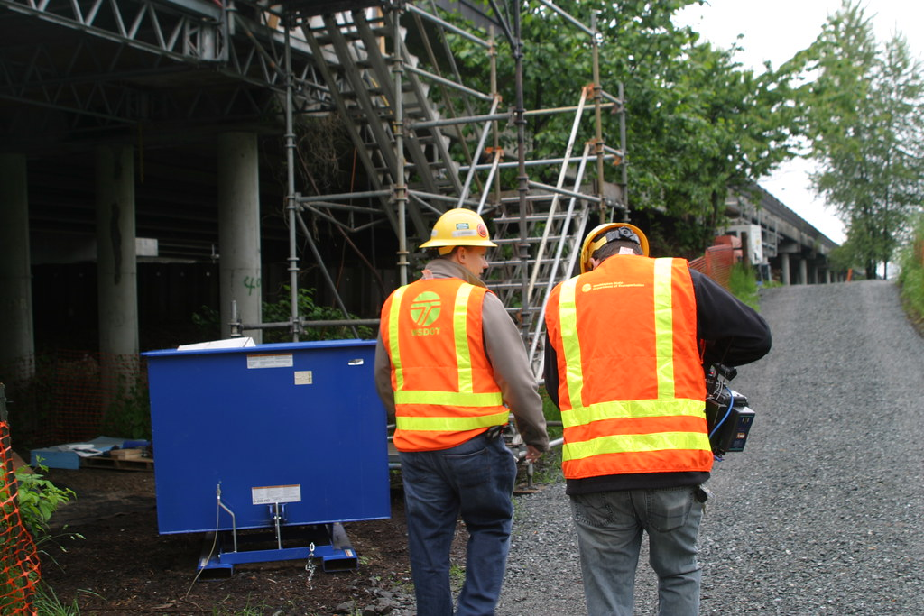 Media visit the US 2 trestle repair project | Project Engine… | Flickr