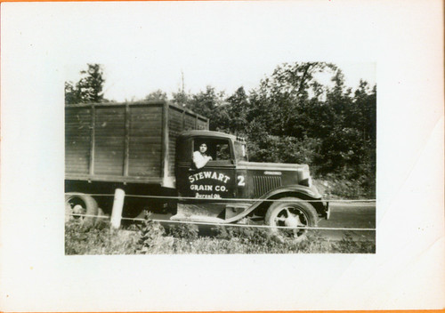 "A Man and truck 03 ""Stewart Grain Co."""