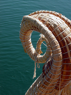 Reed boat prow