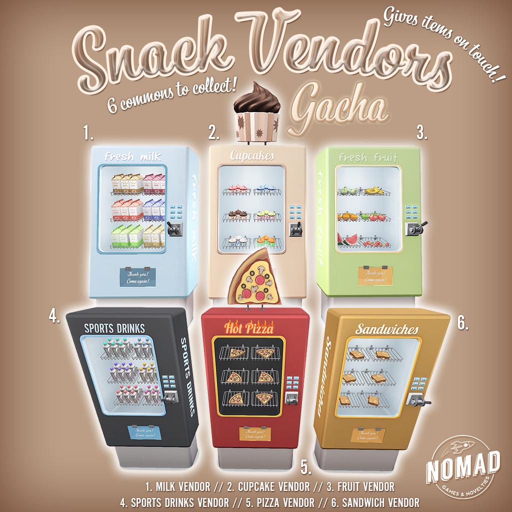 NOMAD // Snack Vendors Gacha - SecondLifeHub.com