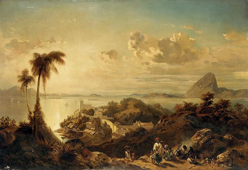 Eduard Hildebrandt - A Glória, Rio de Janeiro (c.1846)