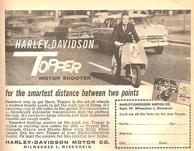 HARLEY DAVIDSON TOPPER (1961)