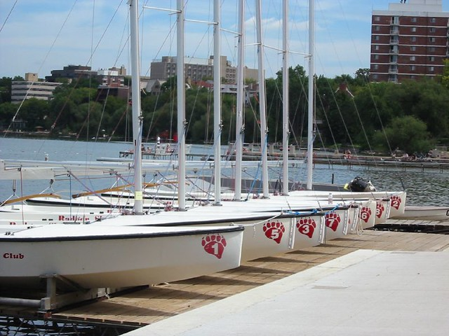 Boats on Lake Mendota