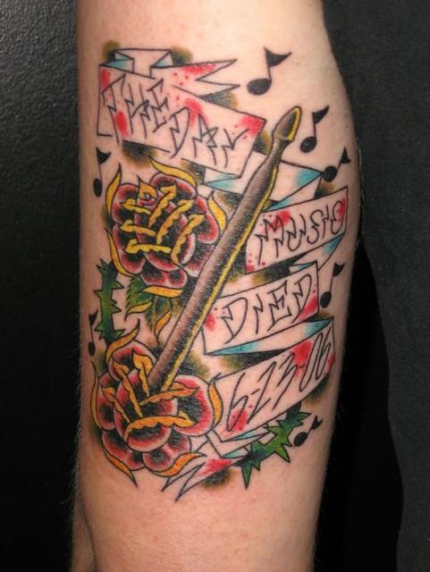 Drum Stick Tattoo | Flickr - Photo Sharing!