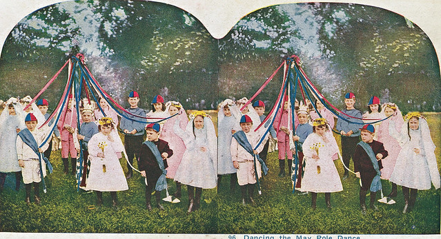 Dancing the Maypole Dance