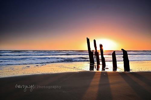 california sunset seascape reflection nikon tamron fortfunston thorntonstatebeach 1750mm d7000
