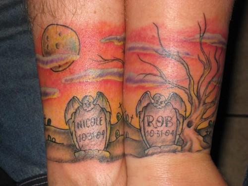 graveyard wedding anniversary tattoo by jon poulson a photo on flickriver. Black Bedroom Furniture Sets. Home Design Ideas