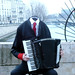 Small photo of Headless Accordion Man