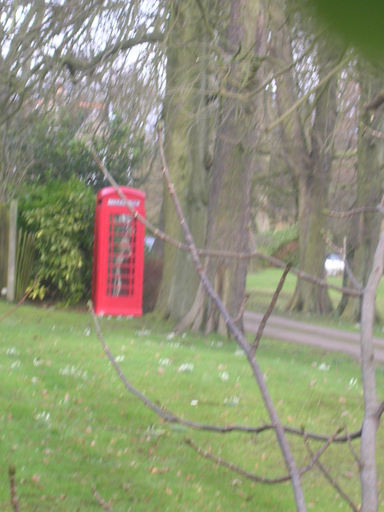 Typical country scene Skeleton in phone box. Snodland to Sole Street