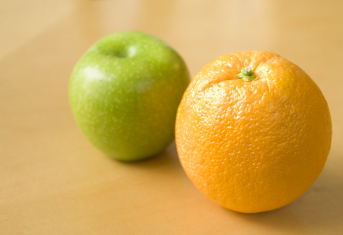Apples & Oranges - They Don't Compare (Flickr, CC2.0)