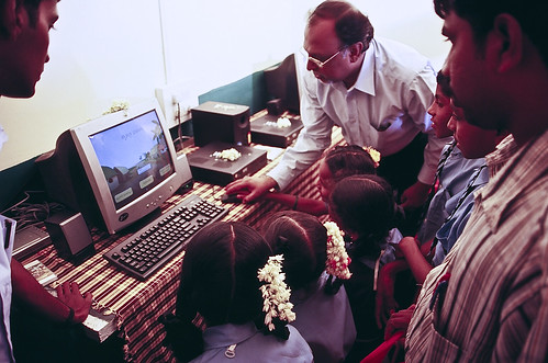 Demonstrating a computer-based training course to students