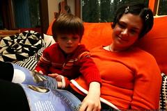 nick reading a bat book to rachel    MG 5959