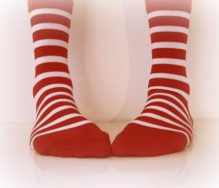 candy cane feet