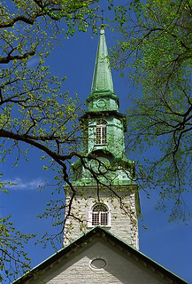 """Quebec City - Holy Trinity Anglican Cathedral """"Steeple In Springtime"""""""