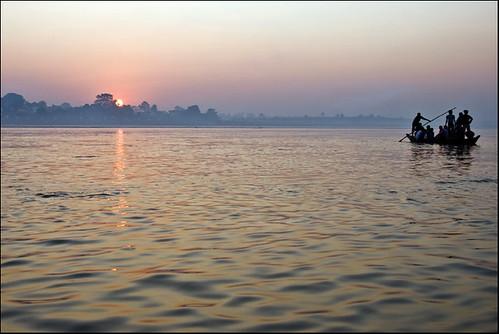 india sunrise river landscape soleil boat holy inde ganges bihar riverscape narayani indedunord sonepur gandak gandhak