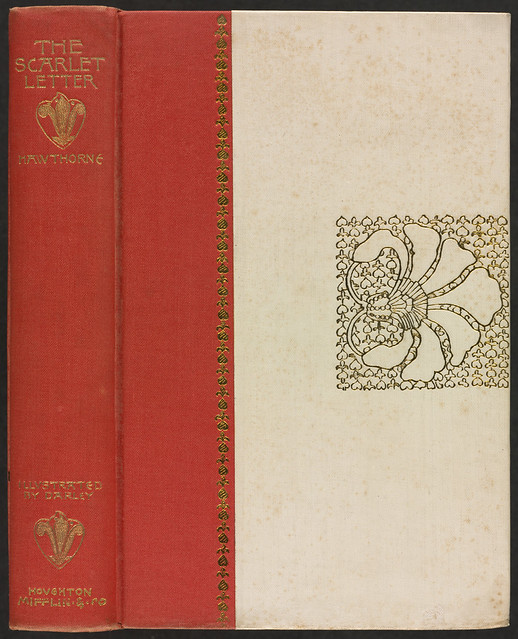Scarlet Letter Cover: The Scarlet Letter [Spine And Front Cover]
