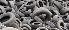 tire, automotive tire, natural rubber, synthetic rubber, tread, scrap,