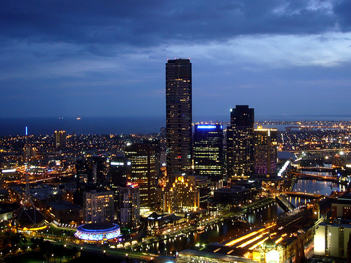 Melbourne: Twilight & Melbourne's tallest building