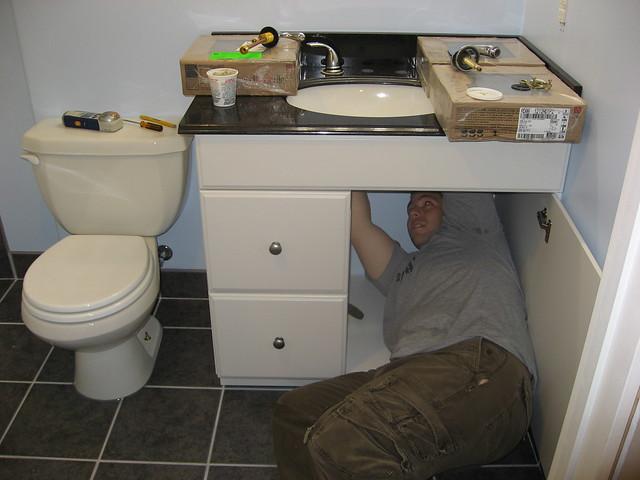 Basement Bathroom Vanity Faucet Install Flickr Photo Sharing
