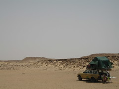 Camping in the open, Western Sahara