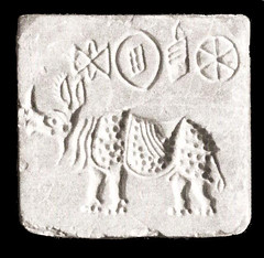 36. Rhino - Steatite Seal, Indus Valley, 2700-1500 BCE