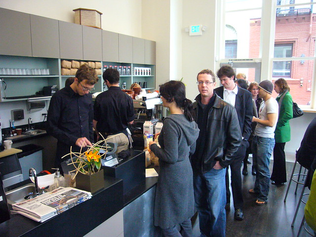 Waiting in Line @ Blue Bottle Coffee