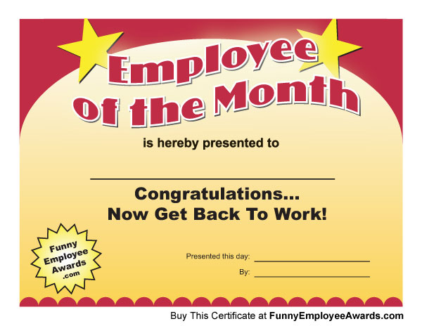 Employee of the month certificate crisfeline employee of the month certificate sample employee of the month certificate yadclub Gallery