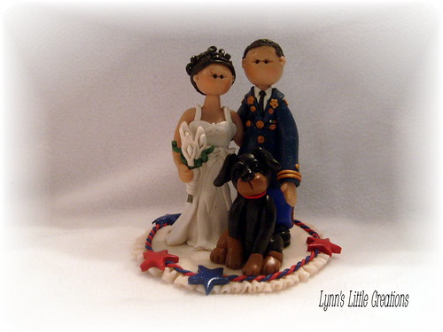 Soldier and his bride