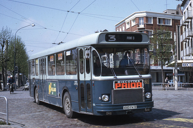 jhm 1968 0407 le havre autobus saviem sc10 flickr. Black Bedroom Furniture Sets. Home Design Ideas