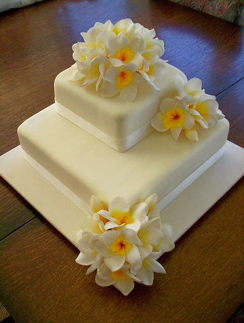 silk flowers for wedding cakes 2 flower cake a gallery on flickr 7402