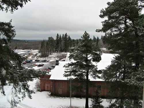 autumn snow finland kouvola kasarminmäki