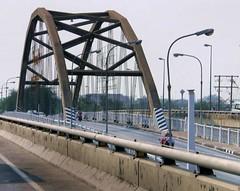 tied-arch bridge, handrail, transport, iron, arch bridge, bridge,