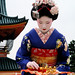 japanese / fan / dance / travel / woman / shrine : maiko (apprentice geisha) kyoto, japan by momoyama