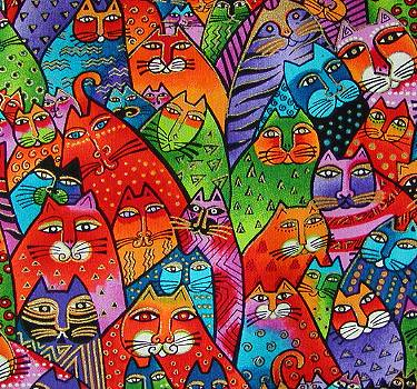 laurel burch cat crowd