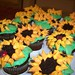 Sunflower Cupcakes by la dolce lola