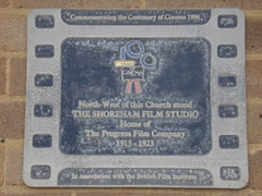 Photo of Shoreham Film Studio film cell plaque