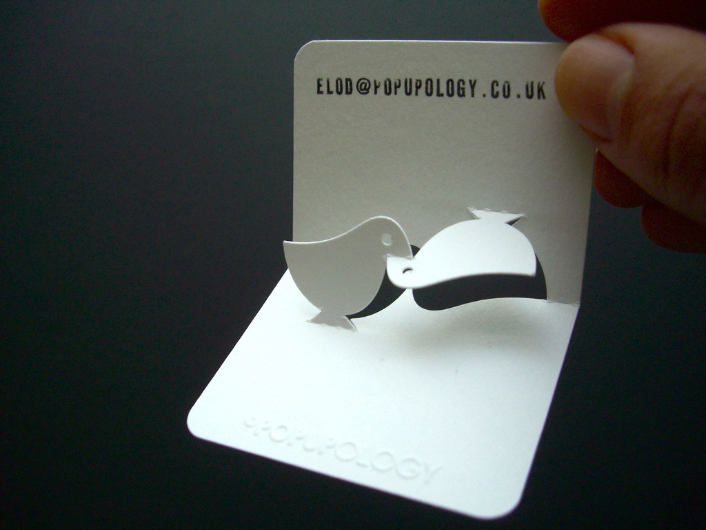 new 3-d business card series IV - lovebirds