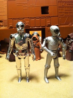 Star Wars Death Star Droid/RA-7 protocol droid Side By Side Kenner And Hasbro