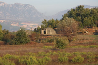 Several of the 700,000 bunkers spread across Albania