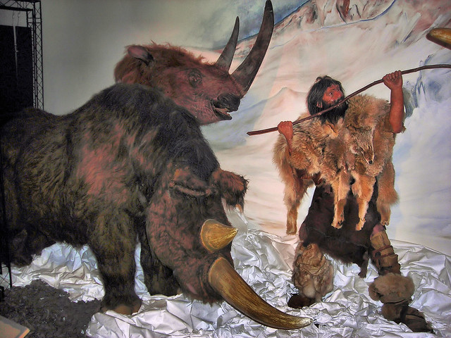 Woolly Rhinoceros Hunt - Horniman Museum, London.