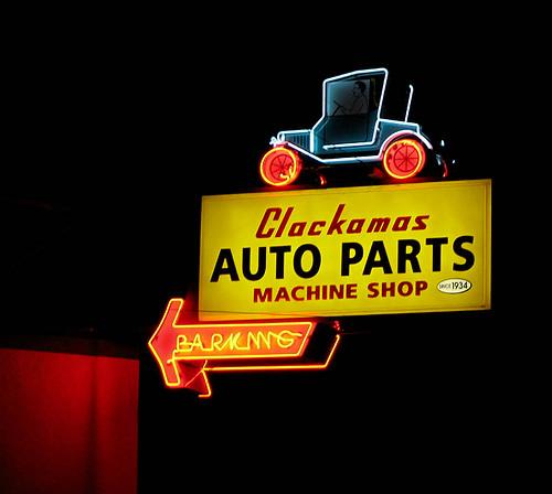 Auto parts neon jalopy