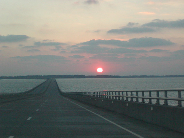 NC - Sunrise from the Virginia Dare Memorial Bridge #4