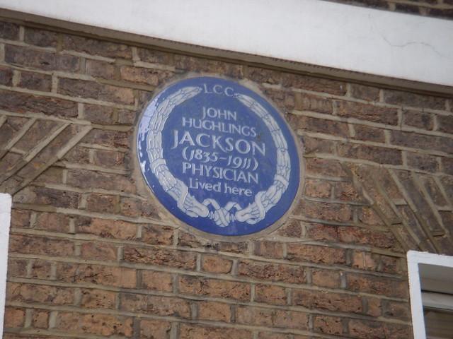 John Hughlings Jackson blue plaque - John Hughlings Jackson (1835-1911) physician lived here