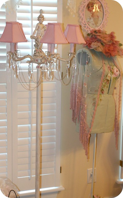Cherub Floor Lamp Amp Painted Dress Form Flickr Photo