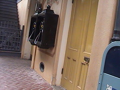 Payphone at 19 rue d' Front (Street), New Orleans Square, Disneyland®, Anaheim, California, 2008.07.11 17:43