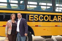 10 02 2017 - Entrega de Micro-ônibus escolar para Sobrália, prefeita Maria das Neves