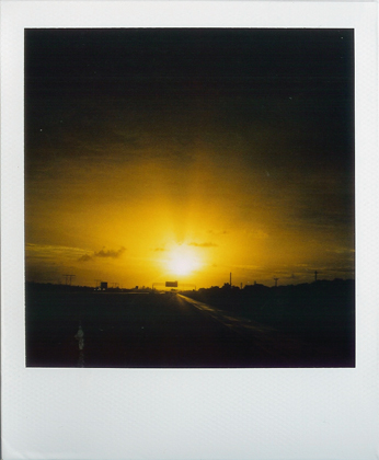 polaroid 402. (this is what photography at 70mph looks like.)