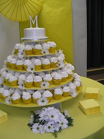 We had a cupcake tower instead of a traditional wedding cake