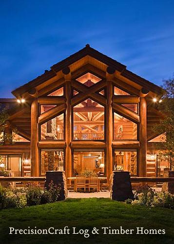 Precisioncraft Log Homes Handcrafted Log Home Back